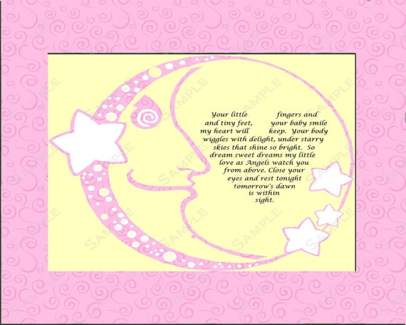 Items Similar To Gift For Baby Girl Nursery Love Poem 8 X