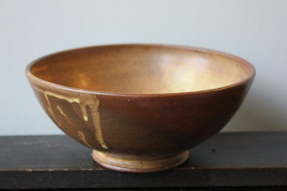 Earthenware Bowl with Red Matte Glaze-