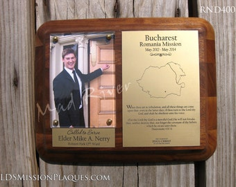 Laser Engraved Rounded LDS Mission Plaque