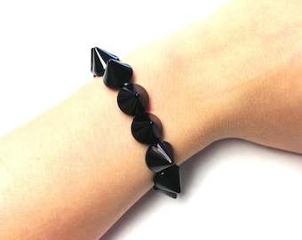 Black Spike Studded Bracelet