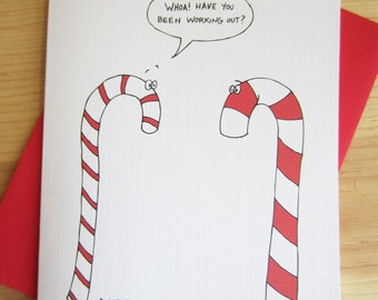 Christmas Card: Candy Cane Cartoon