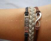 bracelet  love bracelet infinity bracelet karma bracelet magic cute Three strings together