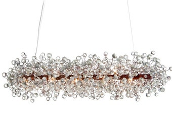 Ceiling Light Fixture Transparent clear bubbles Chandelier for Dining Room, living room or stores