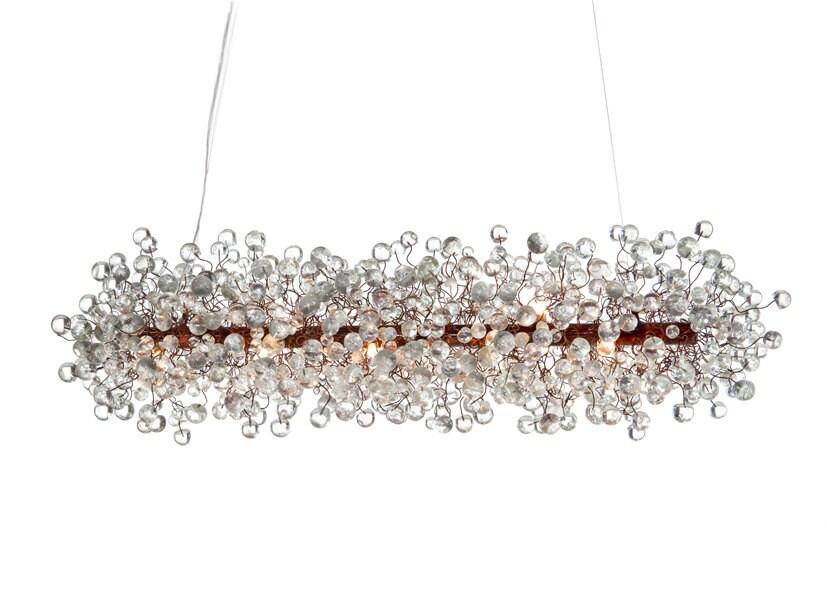 Ceiling Light Fixture Transparent Clear Bubbles Chandelier For