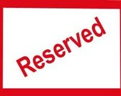 Reserved Listing for Lauren Only
