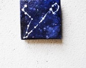 SALE: Pisces Constellation.  Original Painting. Night Sky,  Indigo Blue, Stars, Zodiac