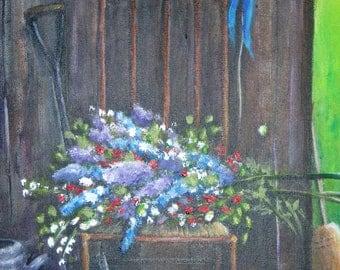 Garden Shed  - Original Painting 18 x 24