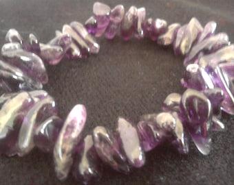Bracelet Big Large Amethyst Gemstone