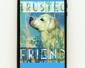 iPhone 4, 5 or Galaxy III Rubber Cover - Yellow Lab  Patrick Reid O'Brien