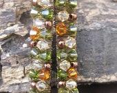 Statement Earrings, Crystal Earrings, Autumn Mix Swarovski Crystal Earrings, Long Earrings, Sparkly Earrings, Wire Wrapped Crystal Earrings