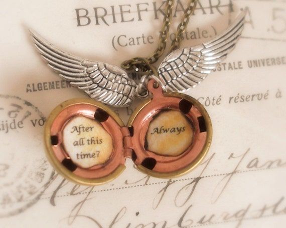 After all this time - Always - legendary golden snitch (photo) locket necklace - Harry Potter / professor Snape inspired