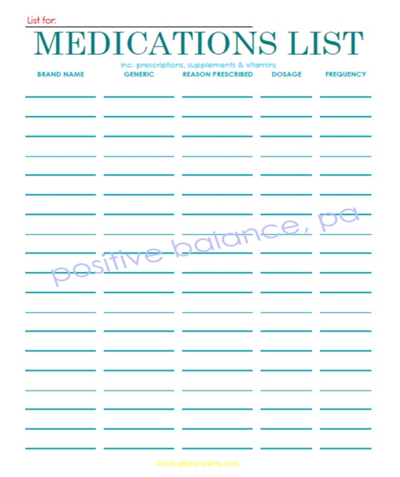 etsy policies template - items similar to printable medication list on etsy