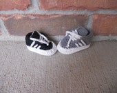 Crochet Sneakers  Baby Boy or Girl Shoes REady to ship