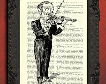 violin gifts violin instrument print music room decor gift for musician