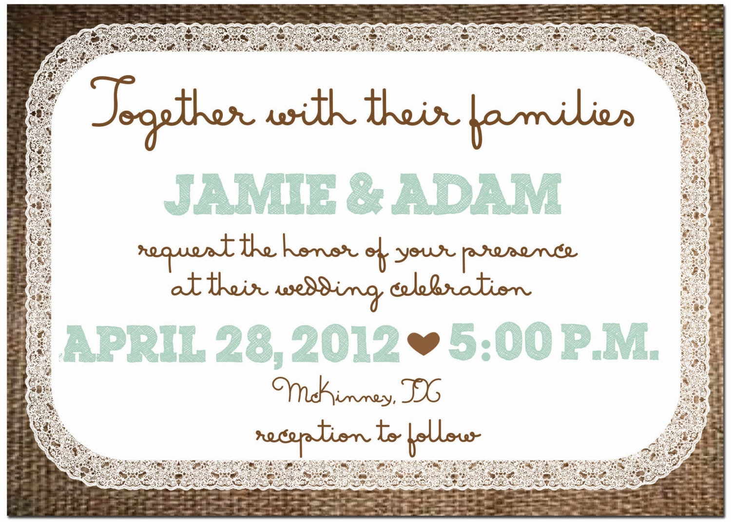 Burlap And Lace Invitations was perfect invitations example