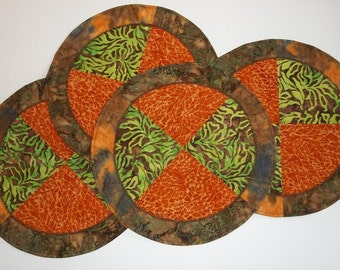 SALE - Safari Style - Circle Placemats