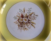 Vintage China, Mid Century, Cunningham and Picket Dinnerware Set, Discontinued Sunglow Dinner Plates Set of 2, Retro Kitchen