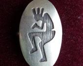 Reserved for TERESA JALBERT  -- Kokapelli Sterling Silver Native Southwest Ring, size 7