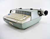 Mid Century Typewriter Eames Era Smith Corona 250 Electric Blue Green