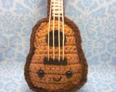 Amigurumi Guitar : Items similar to Kawaii Ukulele or Guitar Amigurumi ...