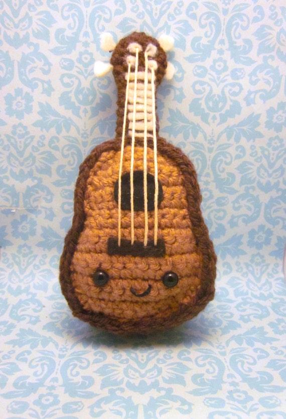 Amigurumi Guitarra Patron : Items similar to Kawaii Ukulele or Guitar Amigurumi ...