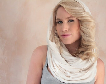 Infinity scarf Cream Circle scarf
