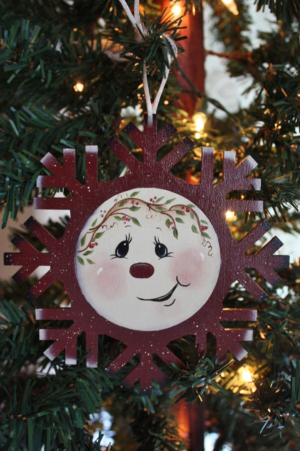 Snowman Painting On Wood