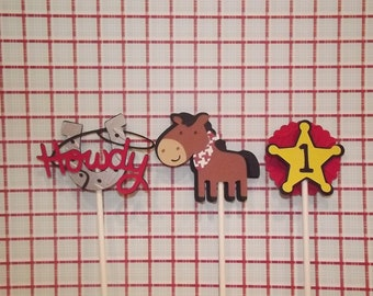 Western Theme Cupcake Toppers