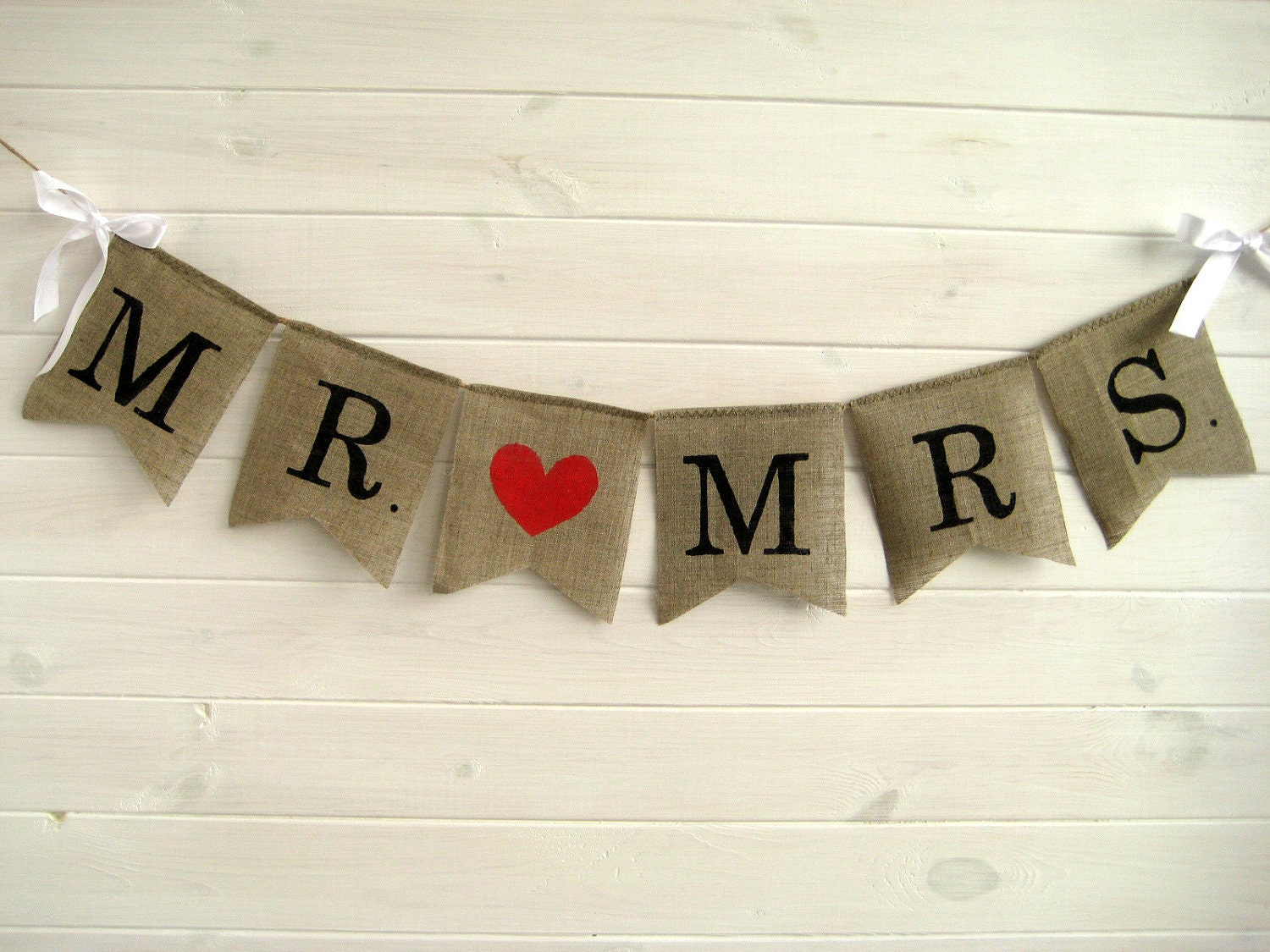 Mr Amp Mrs Burlap Banner Wedding Banner Wedding Garland