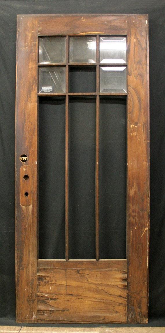 36x83 Antique Exterior Entry Oak Wood Door 9 By
