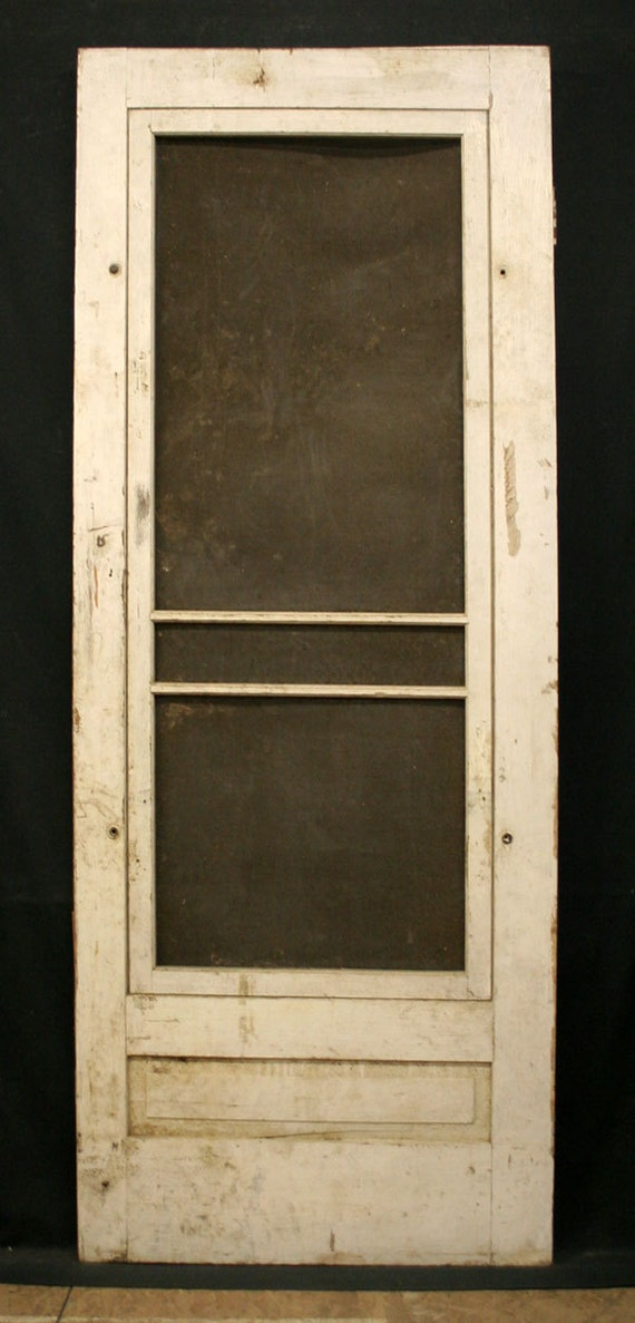 Wood Screen Doors With Removable Screens : Items similar to quot x antique exterior entry pine