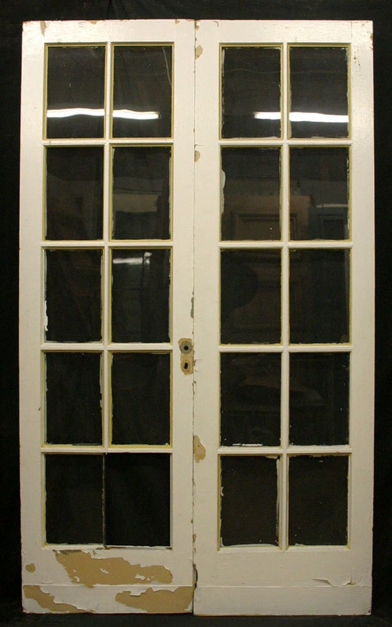 48x80 antique pair french interior fir double doors 32 inch interior french doors