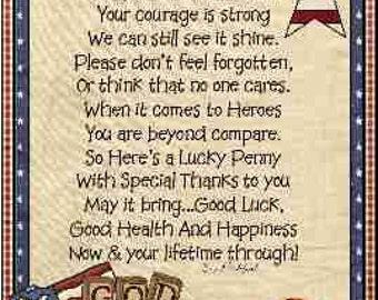 American  Veteran Lucky Penny Card