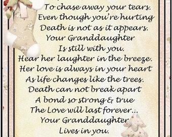 In Loving Memory of Granddaughter Snowflake Ornament