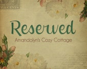 Reserved Just for You-