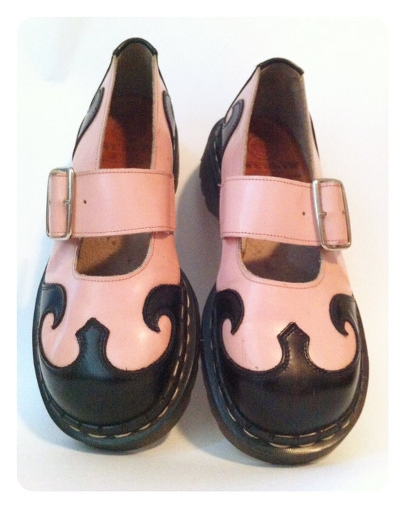 Vintage Tredair Rockabilly leather shoes- Women's size 7.