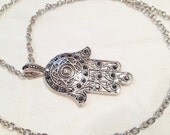 Hot Item *ONLY 4 LEFT*  Quality Zinc Alloy Hamsa Hand/Evil Eye Charm and Chain