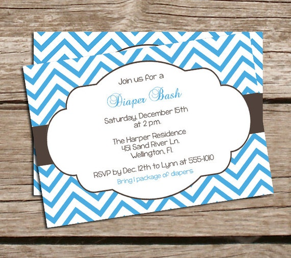 Bash Invitations Invitations Diaper Bash