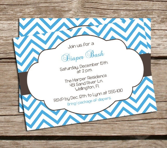Bash Invitations Bash Invitations Chevron