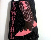 ON SALE: Western cowgirl iPhone 4 4S case