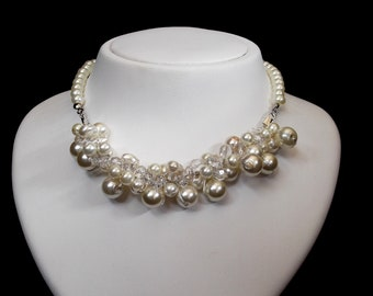 Pearl Necklace, Chunky Pearl Necklace, Bridal Necklace