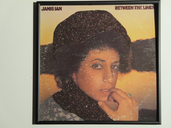 Glittered Record Album - Janis Ian - Between The Lines
