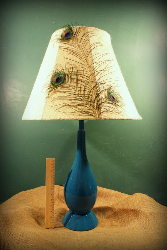 Items Similar To Peacock Feather Lamp Shade With Peacock
