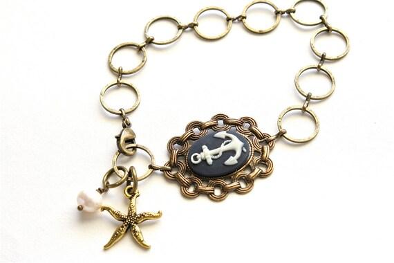 Anchor Bracelet, Cameo Bracelet, Chain Bracelet