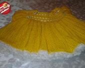 Beautiful Yellow/White Twirly Ruffled Dress- Size  8-11 Months