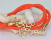 SunKissed Sisters neon cord wrap bracelet-  It's Love collection