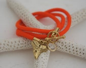 SunKissed Sisters neon cord wrap bracelet-  Shark Tooth collection