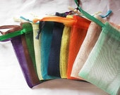 Clearance Sale 1000 Organza bags in 15 assorted colors , 3x4 inch