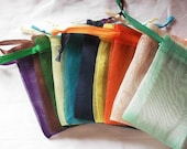 150 Organza bags in 15 mix colors , 4x6 inch