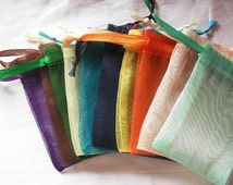 50 Organza bags 5x7 in 15 assorted colors